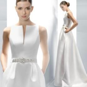 レディース ノースリーブ ロングドレス イブニングドレス シンプル パーティードレス 結婚式 忘年会ドレス 披露宴 二次会 花嫁ドレス