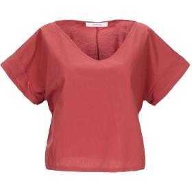 《セール開催中》JUCCA レディース T シャツ 赤茶色 40 コットン 100%