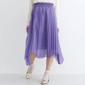[マルイ]【セール】【plus】ラメプリーツアシメヘムスカート/メルロープラス(merlotPLUS)