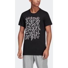 M CORE リニアスキャッターグラフィックTシャツ