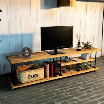 TV48C男前な西海岸インダストリアル テレビボード テレビ台 ローボード 国産 無垢材