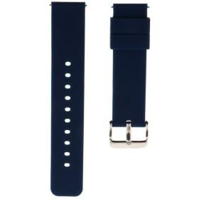 Sharplace 取り替え ウォッチバンド シリコン製  ステンレス製留め金 6色2サイズ - 紺, 22mm