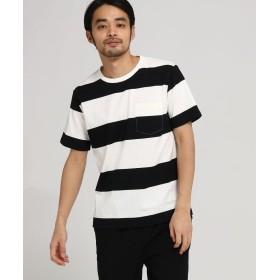 BASE CONTROL(ベースコントロール) ◆Tシャツ メンズ ボーダー OhCool 太ボーダー半袖T
