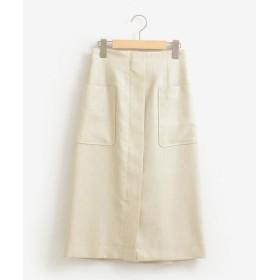 le.coeur blanc / ルクールブラン リネンライクフロントジップスカート