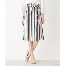 index(インデックス) ◆【洗濯機洗いOK】ミモレボタンタイトスカート