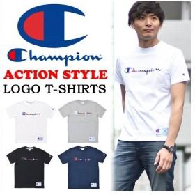SALE Champion チャンピオン アクションスタイル カラフルロゴ刺繍 半袖Tシャツ メンズ レディース ユニセックス クルーネック C3-H371
