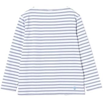 <MEN>ORCIVAL / コットンロード ボーダー フレンチ バスクシャツ メンズ Tシャツ SAX 4