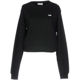 《送料無料》CHIARA FERRAGNI レディース スウェットシャツ ブラック XS コットン 100%