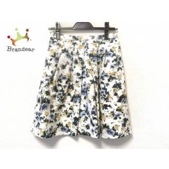 アプワイザーリッシェ スカート サイズ2 M レディース 美品 白×イエロー×マルチ 花柄 スペシャル特価 20190611