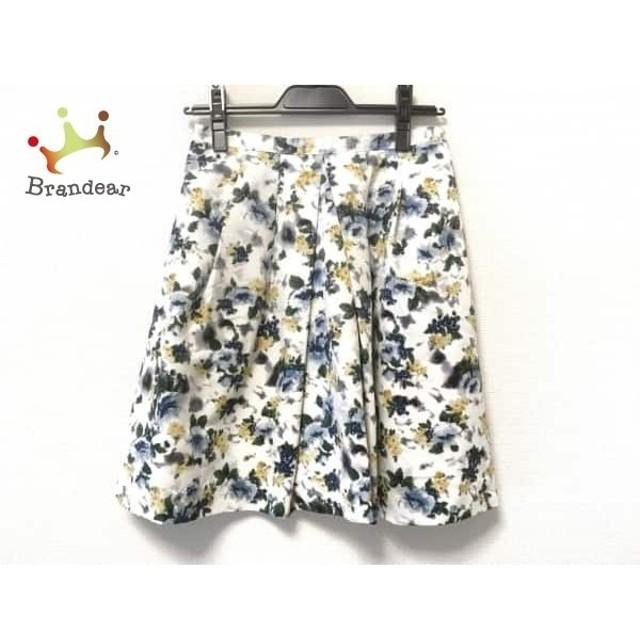 アプワイザーリッシェ スカート サイズ2 M レディース 美品 白×イエロー×マルチ 花柄    値下げ 20191014