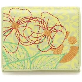 mila schon 【mila schon /ミラ・ショーン】ミラ・ショーン FIORE 二つ折り財布 財布,ライトグリーン