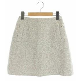 【中古】プロポーション ボディドレッシング PROPORTION BODY DRESSING スカート ミニ 台形 フラワービジュー 1 グレージュ