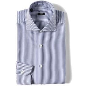 BARBA / 401 オルタネート ストライプ ワイドカラーシャツ メンズ ドレスシャツ BLUE 41