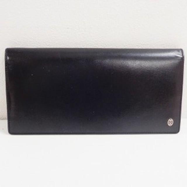 ba03098279f9 カルティエ Cartier パシャ レザー ブラック 財布 長財布 ユニセックス【中古】