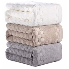 AOTIBESO タオル 3枚セット 綿100% ふわふわ 大判 3色 フェイスタオル 柔らか肌触り 吸水速乾 抗菌防臭