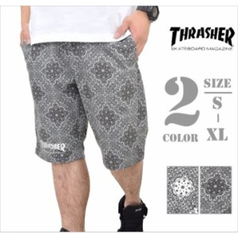送料無料 THRASHER スラッシャー ハーフパンツ メンズ ショートパンツ B系 ストリート系 ファッション