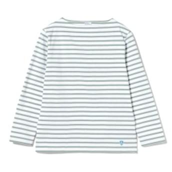 <MEN>ORCIVAL / コットンロード ボーダー フレンチ バスクシャツ メンズ Tシャツ MINT. GRN 4