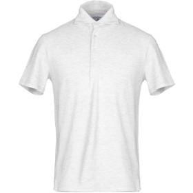 《期間限定セール開催中!》FEDELI メンズ ポロシャツ ライトグレー 50 コットン 100%