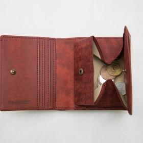 二つ折り財布(内小銭入れ付き) イタリア植物タンニン鞣し革・プエブロ/コッチネーラ【送料無料】