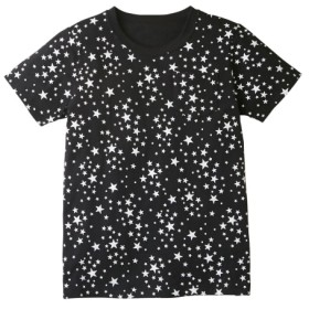 綿100% ポケット付総柄プリント半袖Tシャツ(男の子。女の子 子供服。ジュニア服) Tシャツ・カットソー