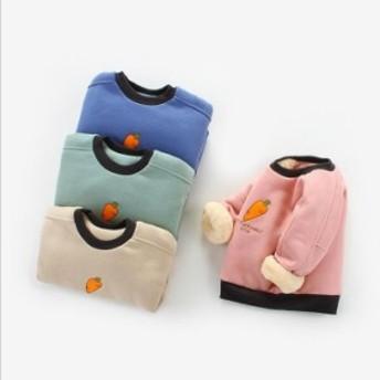 韓国子供服男の子トップスプルオーバープリントトレーナー長袖Tシャツ春暖かい防寒秋冬
