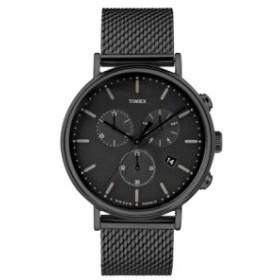 タイメックス レディース 腕時計 アクセサリー Timex Fairfield Chronograph Mesh Strap Watch, 41mm Black
