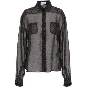 《期間限定 セール開催中》SAINT LAURENT レディース シャツ ブラック 42 シルク 100%