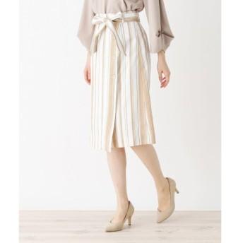 index / インデックス 【洗濯機洗いOK】ミモレボタンタイトスカート