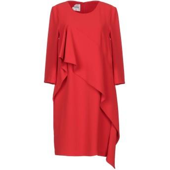 《セール開催中》ANNARITA N TWENTY 4H レディース ミニワンピース&ドレス レッド 42 ポリエステル 97% / ポリウレタン 3%