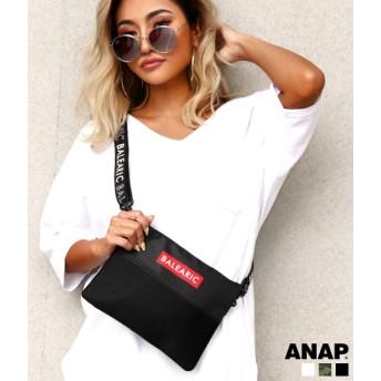 【セール開催中】ANAP(アナップ)BOXプリントロゴサコッシュ
