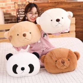 クッション かわいい ぬいぐるみ クマ テディベア パンダ シャンシャン 動物 抱き枕 プレゼント 40cm30cm