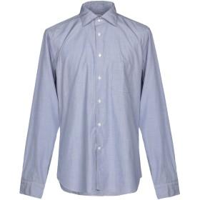 《期間限定セール開催中!》BORSA メンズ シャツ スカイブルー 43 コットン 100%