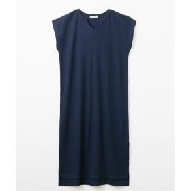 キーネックワッフルチュニックワンピース (ワンピース),dress