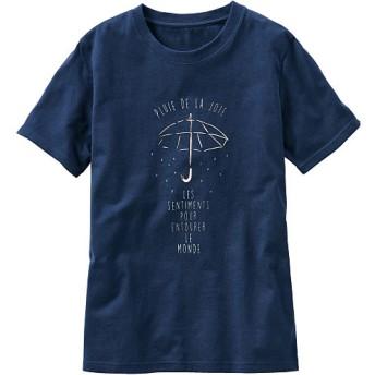 50%OFF【レディース】 プリントTシャツ ■カラー:ネイビー ■サイズ:S