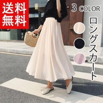 2019新春夏 韓国のファッション新作 ★ハイウエストスカートAラインスカートの中でロングスカート ヴィンテージ調