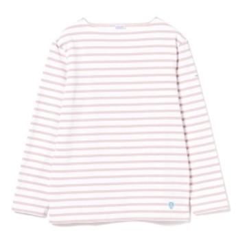 <MEN>ORCIVAL / コットンロード ボーダー フレンチ バスクシャツ メンズ Tシャツ PINK 4