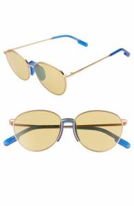 メガネ・サングラス ケンゾー Nicotine 55mm Round Sunglasses Matte Endura Gold/