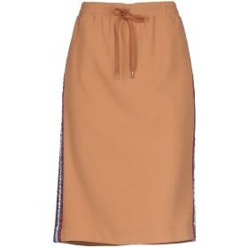 《セール開催中》N°21 レディース ひざ丈スカート キャメル 40 ポリエステル 100%