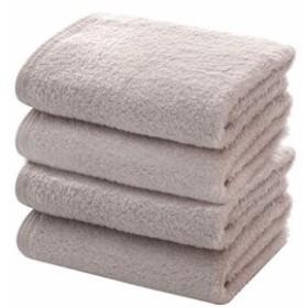 フェイスタオル 4枚セット 34x76cm タオル 柔らかい 綿100% ホテル仕様 吸水速乾抗菌防臭 (34X76cm,