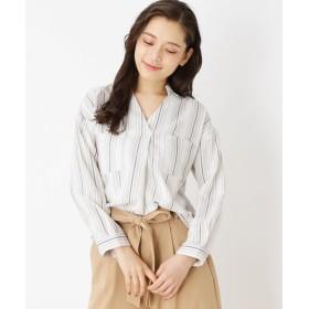 SHOO・LA・RUE/DRESKIP(シューラルー/ドレスキップ) ダブルポケットストライプシャツ