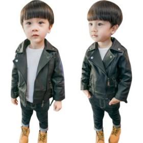 キッズ フェイクPUレザージャケット 男の子 アウター ジュニア ライダース ジャケット 男の子 子供服 上着 男児 子ども キッズ ジュニア