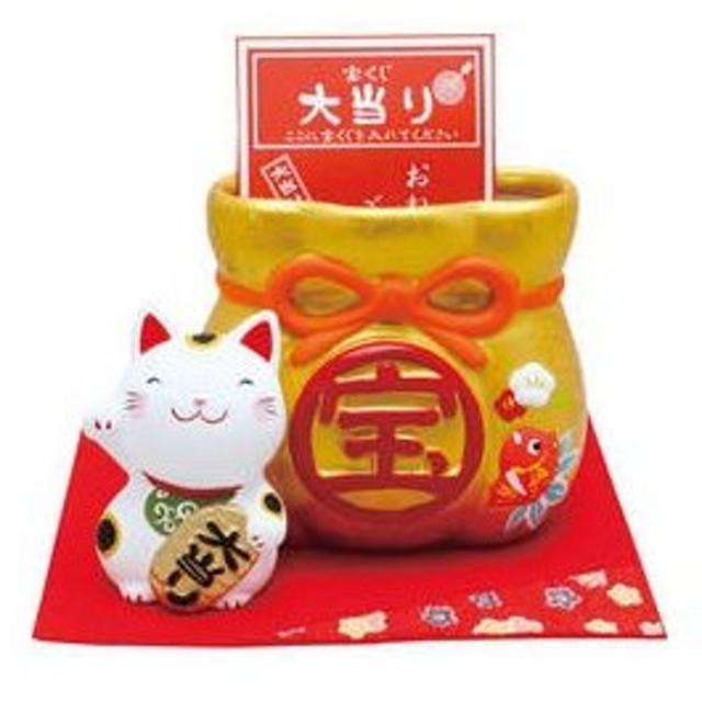 リュウコドウ  招き猫宝くじ入れ/018−0226