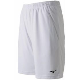 ミズノ(MIZUNO) メンズ レディース テニス ゲームパンツ 裏地付き ホワイト 62JB801201 【テニスウェア バドミントンウェア ハーフパン
