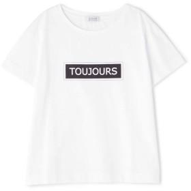 ヒューマンウーマン HUMAN WOMAN ToujoursロゴTシャツ シロ M【税込10,800円以上購入で送料無料】