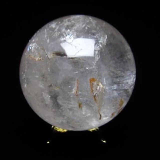 水晶 丸玉 スフィア 虹入り 64mm  151-846