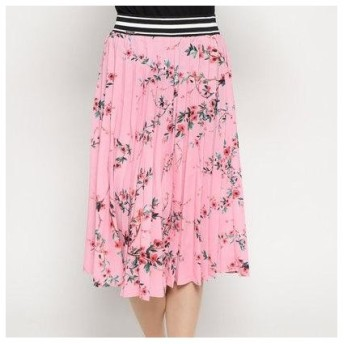 ゲス GUESS CHERRY SKIRT (PINK FLOWER PRINT)