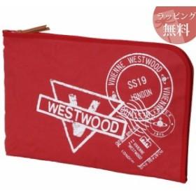 ヴィヴィアンウエストウッド バッグ クラッチバッグ メンズ スタンプ レッド Vivienne Westwood