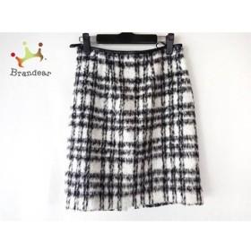 ジャスグリッティー JUSGLITTY スカート サイズ2 M レディース 白×グレー×黒      値下げ 20191012