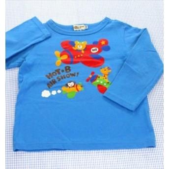 ミキハウス MIKIhouse HotBiscuits 長袖Tシャツ ロンt 100cm 青系 くま 飛行機 トップス キッズ 男の子 女の子 子供服 通販 買い取り