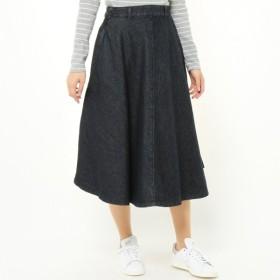 スカート レディース ロング ウエストゴムで履き易い◎綿100%デニムロングスカート 「ワンウォッシュ」
